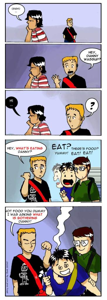 Eating Him Comic