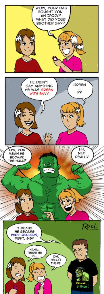 Green With Envy Comic strip